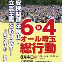 6・4オール埼玉総行動 9条こわすな 戦争させない!
