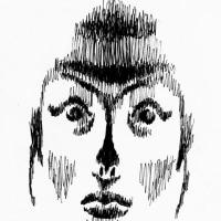 「影を描く」鳥居みゆき(似顔絵)