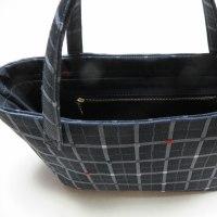 帯から作った手提げバッグ