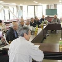 この時期、新年度として会議が多い「勝山地区老人会連合会」。