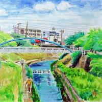 香流川ー引山橋から