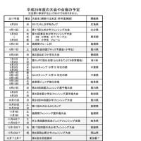 平成29年度年間計画(更新しました!)