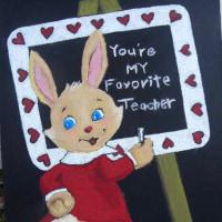 チョークアートでバレンタイン