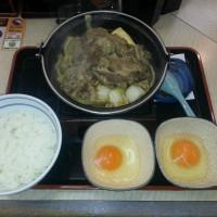 これが、うわさの「牛すき鍋膳」だ!