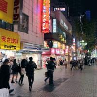 新宿HMV(studio ALTA 5F)とあたりの夜景
