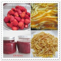 イチゴジャムとオレンジピールを作る