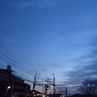 外は真っ暗