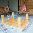ひのきで手作りテーブル