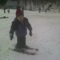 Peter\'s skiing