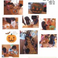 かぼちゃのランタン作り