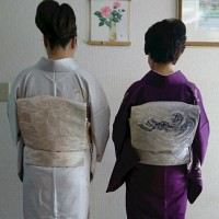 出張着付は大阪狭山市、踊りの会に詩吟を唄いに行かれる訪問着の着付依頼でした。