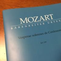 モーツァルト:ヴェスペレ・・始動!