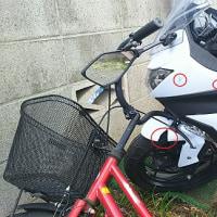 犯人は風!バイク壊される