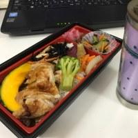 今日のお昼ご飯 10品目の鶏照り焼き弁当