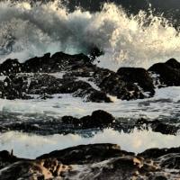 『照ヶ崎』 冬の浪