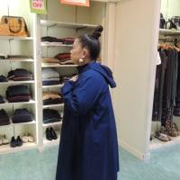 店長!冬物コートを着る!