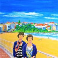 オーストラリア、シドニーのボンダイビーチの絵が完成しました。(TT)