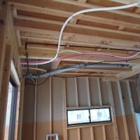 先週の工事 電気工事、防水工事