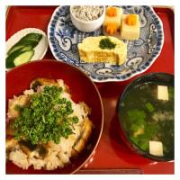 鰻と花山椒の炊き込みご飯♪
