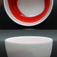 White and red 酒盃(赤円)