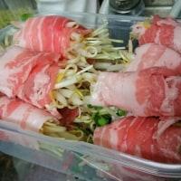 最強の組み合わせ♪ 「豚バラのマッシュルーム巻き」×「タマノイ 胡麻だれ」