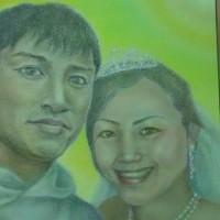 お世話になった大切な奈良の方☆〔祝〕ご結婚☆ご注文のパステル画完成