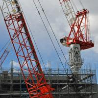 藤沢市新庁舎工事近況報告④クレーンの大活躍