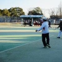 寒中のテニスの初打ち