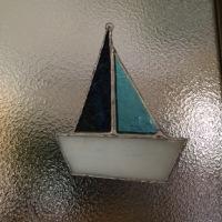 ステンドグラスのヨット