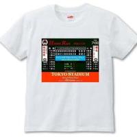 震災復興チャリティー「レトロ球場スコアボードTシャツ&缶バッジ」新作です