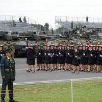 自衛隊観閲式 本番前に統一訓練