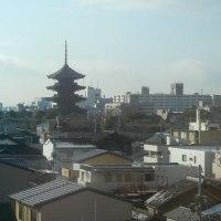 新幹線からの京都