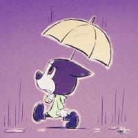 朝から雨。