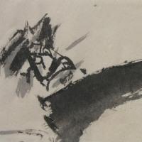 絵を描いている時/日之影・大人神楽より③[宮崎神楽紀行<2017-7>]