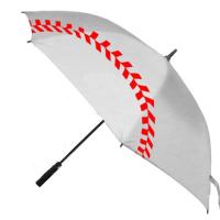 四人収容できる大きな野球ブリント柄ゴルフ傘