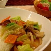 中華丼 と そばメシ と 黒豆パン