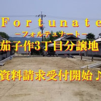 Fortunate(フォルテュナート)茄子作3丁目分譲地 新発表!!
