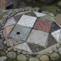 並河靖之七宝記念館の敷瓦