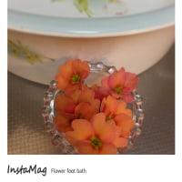 Flower foot bath