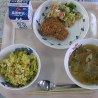 3月14日給食・・・3年生最後の給食でした。(9年間で最後になります。)