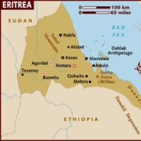 エリトリアの地図