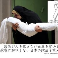 ホワイトリボン運動。政治が人を殺さない世界を望みます。 殺戮に加担しない日本の政治を望みます。
