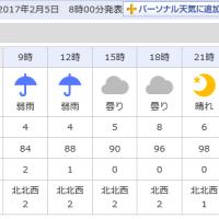 今日は、朝から雨が降ってます・・・・