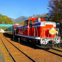 わたらせ渓谷を走るトロッコ電車