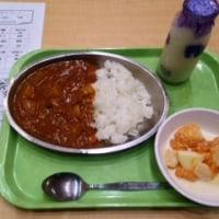 給食試食会 (チキンとキノコのカレー)