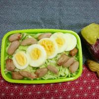 ゆで卵と落花生弁当