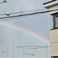 ベランダから虹が見えるも・・・