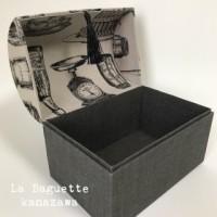 暮らしの中の布箱づくりより宝箱スタイル