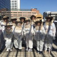 港区芝養蜂事業と港区ノルディックウォーキング事業