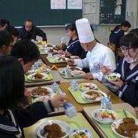 2月22日(水) ゲストシェフによるスペシャル給食~3年生~